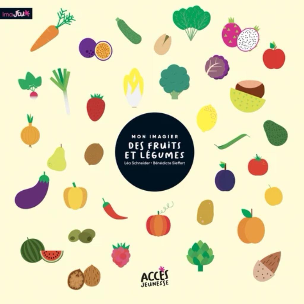 Mon imagier des fruits et des légumes / Léa Schneider   Schneider, Léa. Auteur